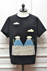 "Renoma PARIS "" Patchwork T-shirts03 - Ultra Suede "" レノマパリ パッチワークTee col.Black"