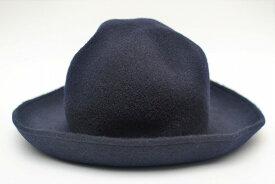 "SCHA シャー ""Walk Time Big -wool hat"" ウールハット col.dark blue"