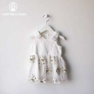 Child dress wedding ceremony brand import 70cm 80cm 90cm of the children's clothes baby woman out of the White Sea