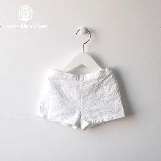 Children's clothes baby short pants shorts 70cm 80cm 90cm white /