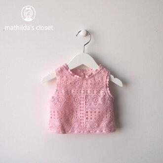 Child set 80cm 90cm tank top short pants race pink import of the children's clothes woman