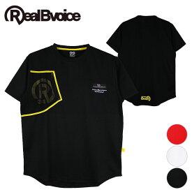【セール】リアルビーボイス RealBvoice メンズ 半袖 ドライTシャツ ポケット メッシュ セットアップ POCKET MESH MARK DRY T-SHIRT POCKET MESH MARK DRY T-SHIRT L BLACK
