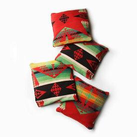 【送料無料】【アメリカ古着】【中古】 OLD KILUM HANDWOVEN WOOL CUSHION - 古いキリムの手織りウール素材クッション 4個セット -