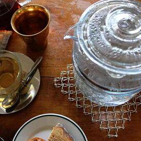 CINQ サンク ワイヤー 鍋敷き (シルバー)レディス カジュアル 小物 アウトドア キッチン 小物 網 台 ポット 鍋 ココット スキレット ネコポス
