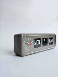 """【送料無料】Twemcoカレンダークロック#BQ-38""""Gray""""【新品】トゥエンコCalendarClockインテリアフリップパタパタ壁掛け置き時計ディテールDETAIL"""