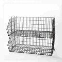 """ワイヤー スタッキング バスケット ワイド【新品】Wire Stacking Basket """"Wide"""" カジュアル インテリア 見せる 収納 おしゃれ 便利 積…"""
