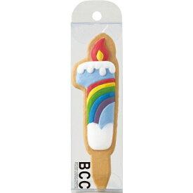 カメヤマキャンドル クッキーナンバーキャンドル1番 虹(1個入)/ カメヤマ