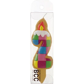 カメヤマキャンドル クッキーナンバーキャンドル2番 ブロック(1個入)/ カメヤマ