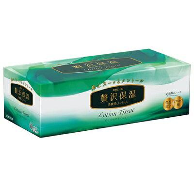 エリエール贅沢保湿 鼻爽快メントール 160組(320枚)/ 大王製紙