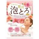 お湯物語 贅沢泡とろ 入浴料 ジュエリーローズの香り(30g)/ 牛乳石鹸