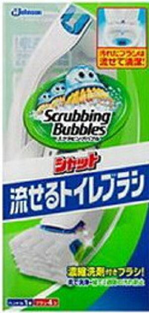ジョンソン スクラビングバブル シャット 流せるトイレブラシ 本体/ ジョンソン