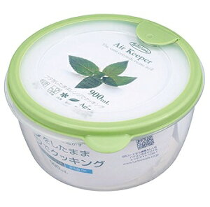 【ご奉仕品】保存容器 エアキーパー どんぶり グリーン(900mL)A-038 SG/ 岩崎工業