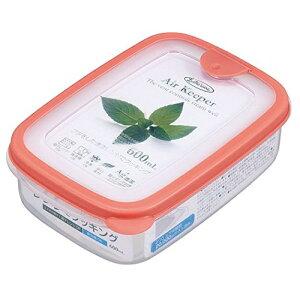 岩崎 保存容器 エアキーパー フードケース 600ml (S) オレンジ A-030 SO(1個入)/ 岩崎工業