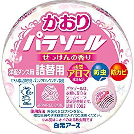 パラゾール 洋服ダンス用かおりパラゾール せっけんの香り 詰替用(1個)/ 白元アース