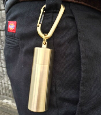 在庫追加しました!!【当店オススメ】真鍮製 携帯灰皿 ストロングタイプ  ≪携帯灰皿 タバコ 持ち運び≫