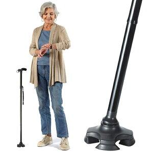 《クーポン配布中》 ケーンセーフ CaneSafe 折りたたみ杖 ケンセーフ LEDライト オールインワンステッキ 歩行杖 歩行つえ 敬老の日 ギフト 父の日 早割 け