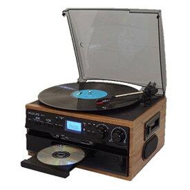 レコード CD ラジオ&カセット 搭載多機能プレーヤー RTC-29 ドーナッツ盤用アダプタ付き カセットテープ再生 EP/SP/LP盤再生 MP3録音可能 あ