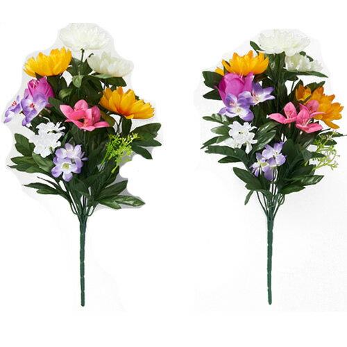 お墓・仏壇用 お供え花 2束入り 造花 メモリアルフラワー 仏花 仏壇 墓花 水やり不要 仏壇のお花