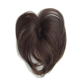 SO-110 ソフトネットヘアピース 人毛100% 総手植え 自然色 栗色 部分ウィッグ 部分かつら つむじ 女性用かつら レディースカツラ 白髪かくし パーマOK ヘアカラーOK 手洗いOK て