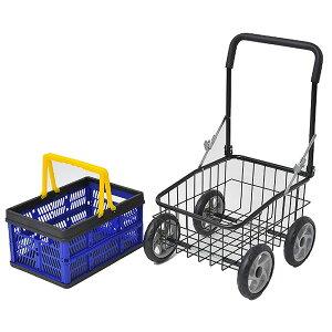 《クーポン配布中》 カゴ付きラクラクカート お買い物カート ショッピングカート 台車 運搬用カート 手押しカート 野菜の収穫に ゴミ捨てに カゴ付き 母の日 早割 や