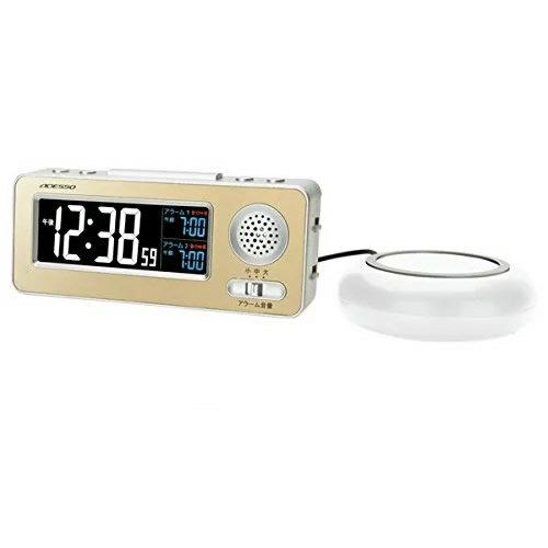 振動式目覚まし電波時計 MG-97 アデッソ 電波時計 置時計 目覚まし時計 正確な時を刻む電波時計 振動式目覚し電波時計 GE-01 の姉妹品です