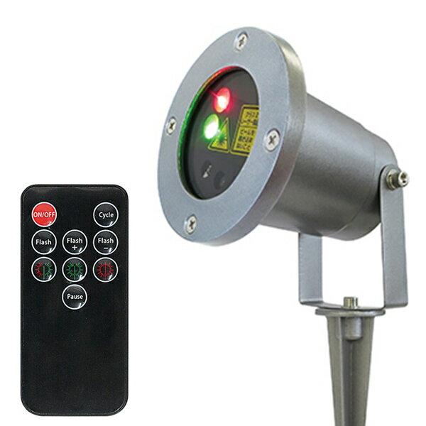 イルミネーションレーザーライト DE-004R LEDレーザーイルミネーションライト レッド&グリーン デコレーションライト クリスマスイルミネーション クリスマスツリーライト LEDライト レーザーライト