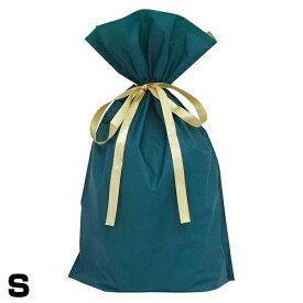 《クーポン配布中》 梨地リボン付 ラッピング袋 Sサイズ グリーン ラッピング用袋のみ販売 幅150×高さ280×マチ80mm 梨地リボン付き巾着袋 プレゼント 梱包 クリスマス 子供 男性 女性 へ