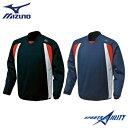 【大特価】 野球 ミズノ スウェット BKジャケット 52LA110 ウェア 長袖 裏起毛 トレーナー 保温性 バツグン