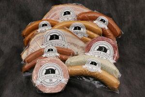 10種 詰め合わせギフト 贈り物にも、お取り寄せにも 林SPF豚のハム・ソーセージ&国産ジビエ 猪肉&鹿肉ソーセージ