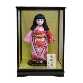 平安豊久作13号市松人形ケース付き