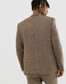 ハート&ダガー Suit Jackets メンズ【Heart & Dagger slim suit jacket in charcoal harris tweed】Charcoal