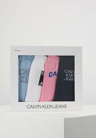 カルバンクライン 靴下 ソックス レディース【Calvin Klein Underwear 4 PACK GIFTBOX - Socks - blue/whit