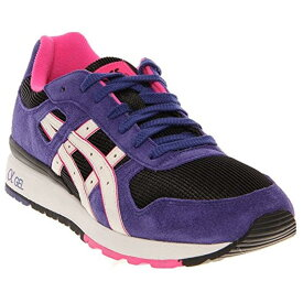 ASICS Mens GT-II Suede Running Athletic Shoes - メンズランニングシューズ Black/White/Purple