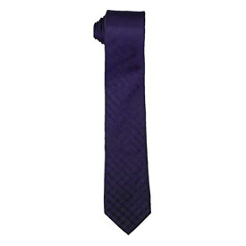 Kenneth Cole Reaction Mens Silk Work Wear Neck Tie ネクタイ - ボーイズネクタイ Purple