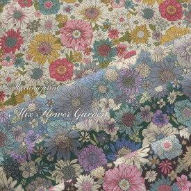 ◇◇MIX Flower Garden(ミックスフラワーガーデン)≪シーチングプリント≫※104cm幅 コットン100% 花柄 フラワー柄 生地 布 おしゃれ 