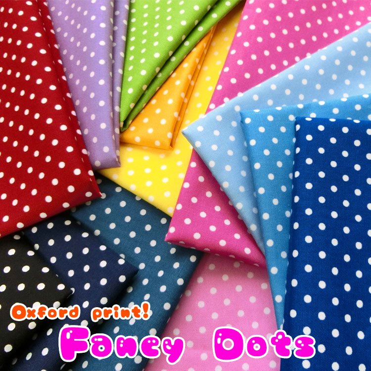 ◆◇Fancy Dots◇◆(ファンシードット)≪オックスプリント≫※110cm幅 コットン100%