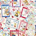 ★びっくり価格!★【50cm単位】≪YUWA≫松山敦子さんデザイン!!30's Collectionフルーティー◇レトロアニマル『カード』≪シーチング…