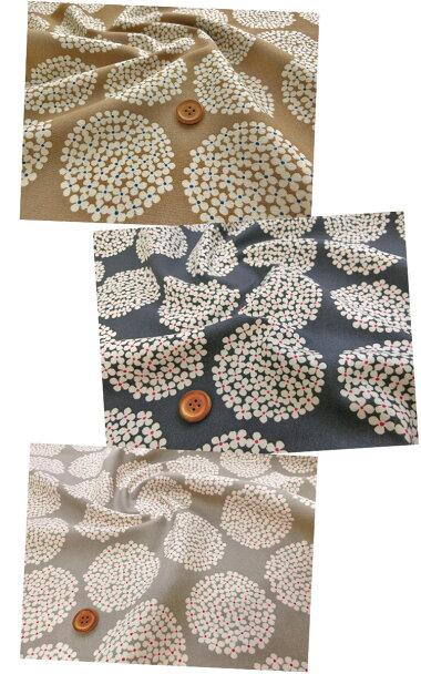 *WhiteCircleFlower*(ホワイトサークルフラワー)≪10番キャンバス≫※生地幅108cm幅コットン100%北欧