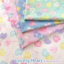 ★アウトレット価格!★Lovely Heart(ラブリー ハート)≪シーチングプリント≫※110cm幅 コットン100%