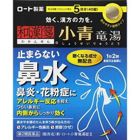 【第2類医薬品】ロート製薬 新・ロート小青竜湯錠II 40錠
