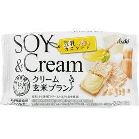 アサヒグループ食品株式会社 クリーム玄米ブラン 豆乳カスタード 2枚X2袋