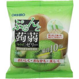 オリヒロプランデュ ぷるんと蒟蒻ゼリーパウチ キウイ 20g×6個