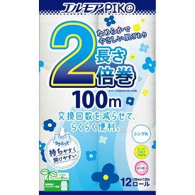 カミ商事 エルモア ピコ2倍巻 12ロール シングル 100m