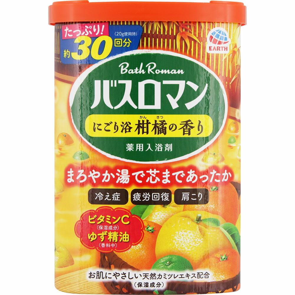 アース製薬 バスロマン にごり浴 柑橘の香り 600g (医薬部外品)