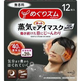 花王 めぐりズム蒸気でホットアイマスク メン 12枚