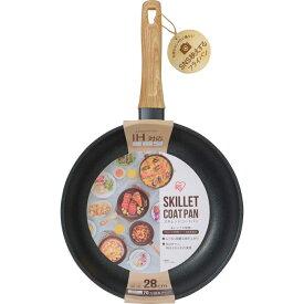 アイリスオーヤマ スキレットコートパン IH対応 28cm ブラック