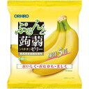 オリヒロプランデュ ぷるんと蒟蒻ゼリーパウチ バナナ 20g×6個