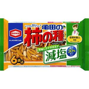 亀田製菓 減塩亀田の柿の種6袋詰 182g
