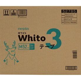 王子ネピア ネピア Whitoテープ Mサイズ 3時間タイプ 52枚×4
