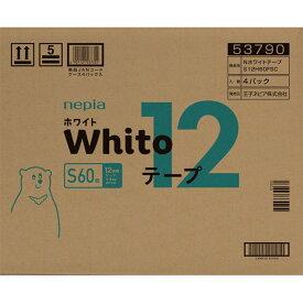 王子ネピア ネピア Whitoテープ Sサイズ 12時間タイプ 60枚×4